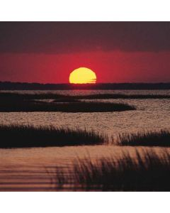 Sunset Over A Chincoteague Island Marsh - Virginia Apple TV Skin