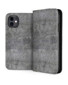Natural Grey Concrete iPhone 11 Folio Case
