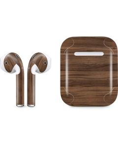 Natural Walnut Wood Apple AirPods Skin