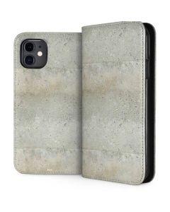 Natural White Concrete iPhone 11 Folio Case