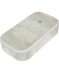 Natural White Concrete UV Phone Sanitizer and Wireless Charger Skin