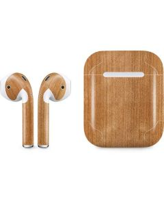 Natural Wood Apple AirPods Skin