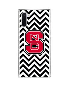 NC State Chevron Print Galaxy Note 10 Clear Case