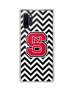 NC State Chevron Print Galaxy Note 10 Plus Clear Case