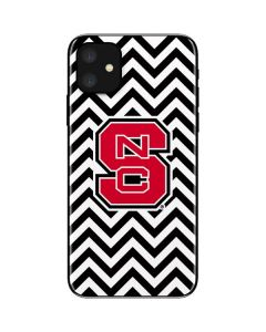NC State Chevron Print iPhone 11 Skin