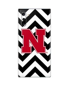 Nebraska Black Chevron Print Galaxy Note 10 Skin