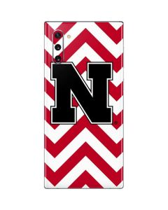 Nebraska Red Chevron Print Galaxy Note 10 Skin