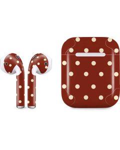 Neutral Polka Dots Apple AirPods Skin