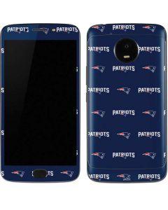 New England Patriots Blitz Series Moto E4 Plus Skin