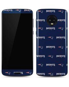 New England Patriots Blitz Series Moto G6 Skin