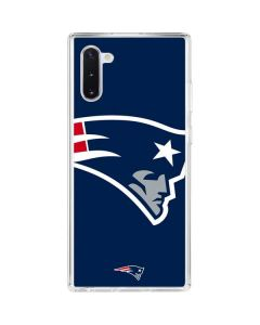 New England Patriots Large Logo Galaxy Note 10 Clear Case