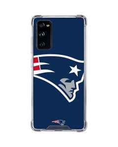 New England Patriots Large Logo Galaxy S20 FE Clear Case