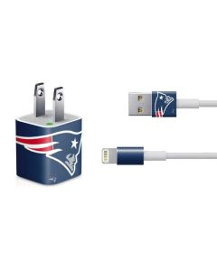 New England Patriots Large Logo iPhone Charger (5W USB) Skin