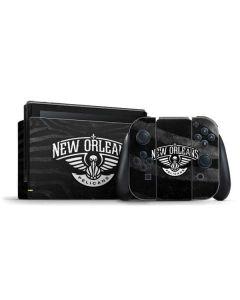 New Orleans Pelicans Black Animal Print Nintendo Switch Bundle Skin