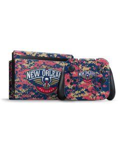 New Orleans Pelicans Digi Camo Nintendo Switch Bundle Skin