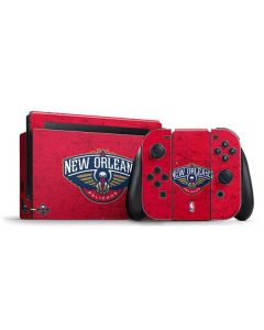 New Orleans Pelicans Distressed Nintendo Switch Bundle Skin