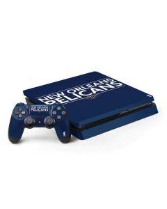 New Orleans Pelicans Standard - Blue PS4 Slim Bundle Skin