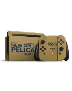 New Orleans Pelicans Standard - Gold Nintendo Switch Bundle Skin