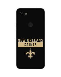 New Orleans Saints Black Performance Series Google Pixel 3a Skin