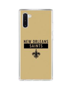 New Orleans Saints Gold Performance Series Galaxy Note 10 Clear Case