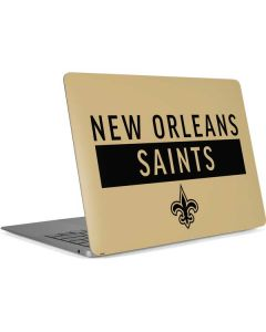 New Orleans Saints Gold Performance Series Apple MacBook Air Skin