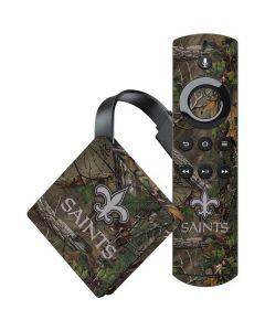 New Orleans Saints Realtree Xtra Green Camo Amazon Fire TV Skin