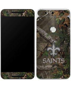 New Orleans Saints Realtree Xtra Green Camo Google Nexus 6P Skin