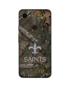 New Orleans Saints Realtree Xtra Green Camo Google Pixel 3a Skin