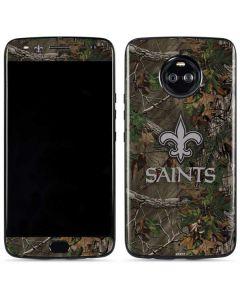 New Orleans Saints Realtree Xtra Green Camo Moto X4 Skin