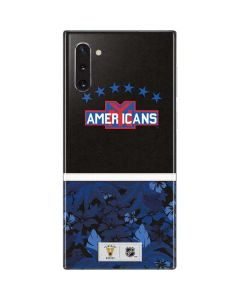 New York Americans Retro Tropical Print Galaxy Note 10 Skin