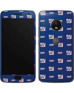 New York Giants Blitz Series Moto G5 Plus Skin