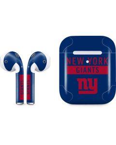 New York Giants Blue Performance Series Apple AirPods 2 Skin
