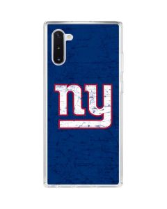 New York Giants Distressed Galaxy Note 10 Clear Case