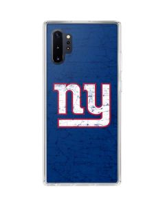 New York Giants Distressed Galaxy Note 10 Plus Clear Case
