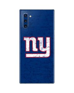 New York Giants Distressed Galaxy Note 10 Skin