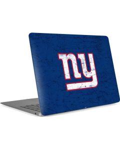 New York Giants Distressed Apple MacBook Air Skin