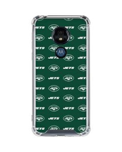 New York Jets Blitz Series Moto G7 Power Clear Case