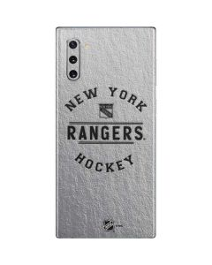 New York Rangers Black Text Galaxy Note 10 Skin