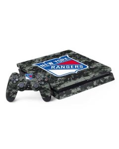 New York Rangers Camo PS4 Slim Bundle Skin