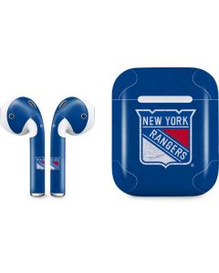 New York Rangers Distressed Apple AirPods Skin