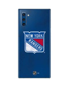 New York Rangers Distressed Galaxy Note 10 Skin