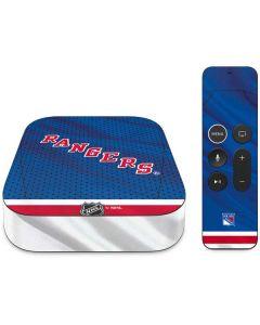 New York Rangers Home Jersey Apple TV Skin