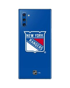 New York Rangers Solid Background Galaxy Note 10 Skin