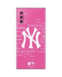New York Yankees - Pink Cap Logo Blast Galaxy Note 10 Skin