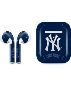 New York Yankees - Solid Distressed Apple AirPods 2 Skin