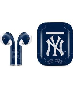 New York Yankees - Solid Distressed Apple AirPods Skin