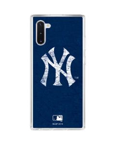 New York Yankees - Solid Distressed Galaxy Note 10 Clear Case