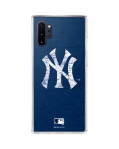 New York Yankees - Solid Distressed Galaxy Note 10 Plus Clear Case