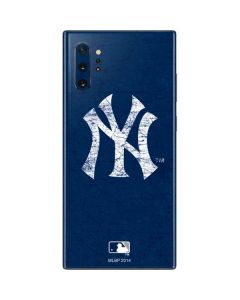 New York Yankees - Solid Distressed Galaxy Note 10 Plus Skin