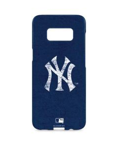 New York Yankees - Solid Distressed Galaxy S8 Plus Lite Case